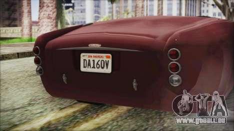 GTA 5 Declasse Mamba IVF pour GTA San Andreas vue arrière