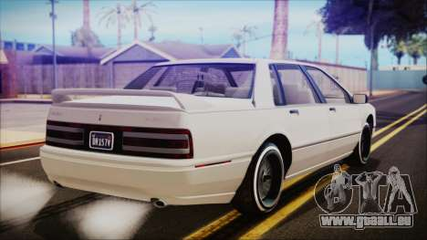 GTA 5 Albany Primo Custom pour GTA San Andreas laissé vue