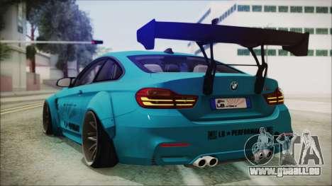 BMW M4 2014 Liberty Walk pour GTA San Andreas laissé vue