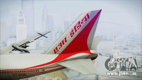 Boeing 747-237Bs Air India Mahendra Verman für GTA San Andreas zurück linke Ansicht