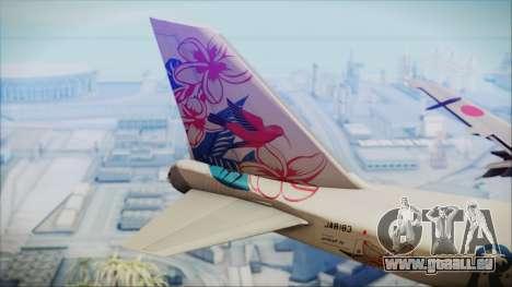 Boeing 747-300 Japan Airlines Resocha für GTA San Andreas zurück linke Ansicht