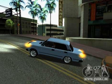 VAZ 2107-107 pour GTA San Andreas salon