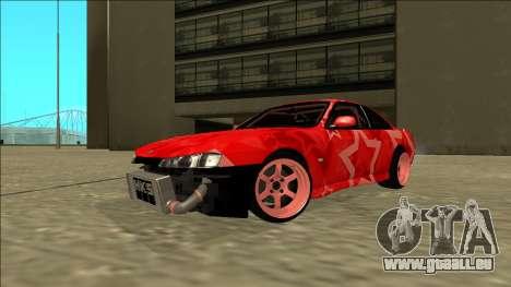 Nissan Silvia S14 Drift Red Star für GTA San Andreas rechten Ansicht