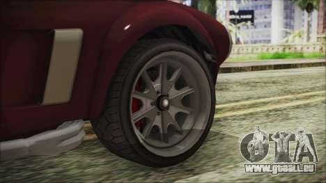 GTA 5 Declasse Mamba IVF pour GTA San Andreas sur la vue arrière gauche