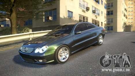 Mercedes CLK55 AMG Coupe 2003 pour GTA 4