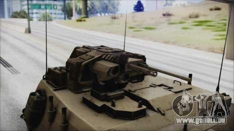 M4 Scorcher Self Propelled Artillery pour GTA San Andreas vue de droite