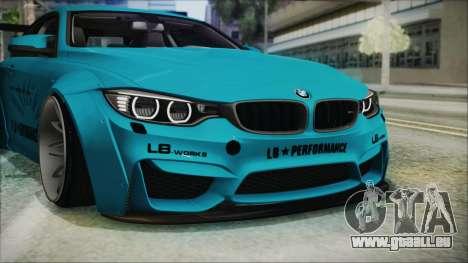 BMW M4 2014 Liberty Walk pour GTA San Andreas vue de dessous