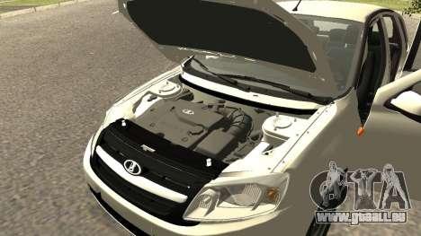 Lada Kalina 2 - Granta für GTA San Andreas Rückansicht