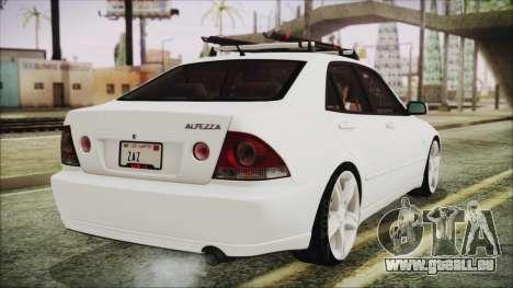 Toyota Altezza 2004 Full Tunable HQ pour GTA San Andreas laissé vue