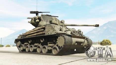 GTA 5 M4A3E8 Sherman Fury rechte Seitenansicht