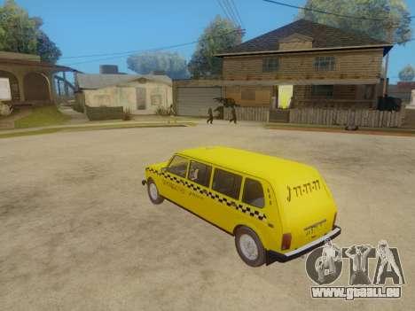 VAZ 2131 7-Porte de Taxi pour GTA San Andreas vue arrière