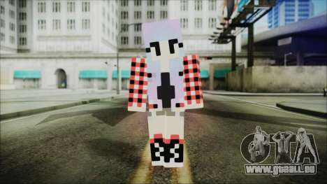 Minecraft Female Skin Edited pour GTA San Andreas deuxième écran