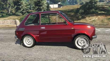 GTA 5 Fiat 126p v1.2 vue latérale gauche