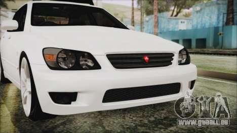 Toyota Altezza 2004 Full Tunable HQ pour GTA San Andreas vue de côté