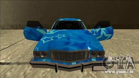 Ford Gran Torino Drift Blue Star pour GTA San Andreas vue de dessus