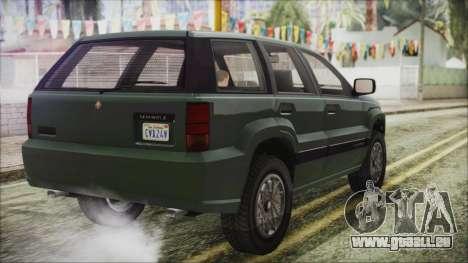 GTA 5 Canis Seminole pour GTA San Andreas laissé vue