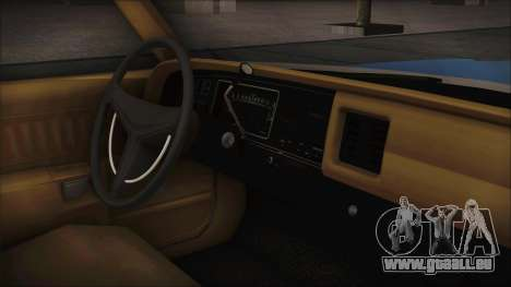 Dodge Monaco 1974 Civilian für GTA San Andreas zurück linke Ansicht