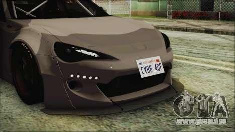 Toyota GT86 Rocket Bunny Tunable IVF pour GTA San Andreas vue intérieure
