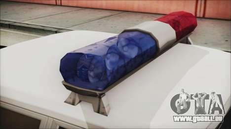 Dodge Monaco 1974 LSPD IVF pour GTA San Andreas vue arrière