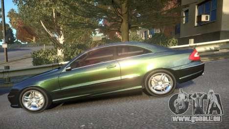 Mercedes CLK55 AMG Coupe 2003 pour GTA 4 est une gauche