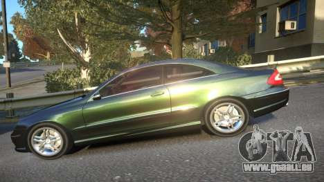 Mercedes CLK55 AMG Coupe 2003 für GTA 4 linke Ansicht