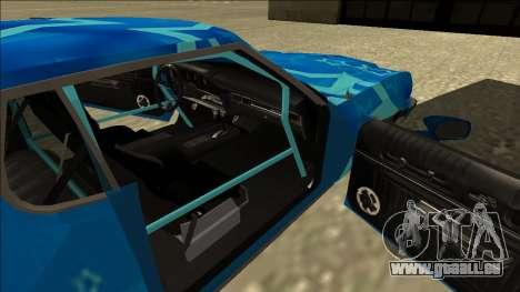 Ford Gran Torino Drift Blue Star für GTA San Andreas Rückansicht