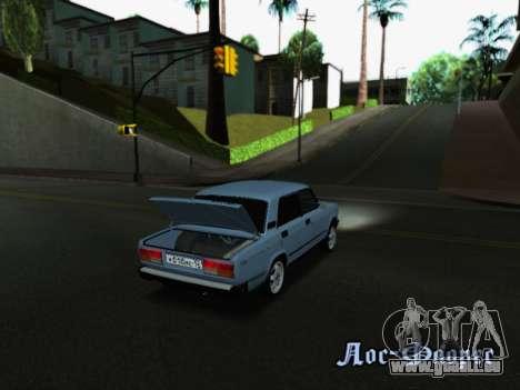 VAZ 2107-107 pour GTA San Andreas vue de dessous