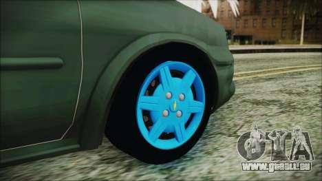 Chevrolet Corsa für GTA San Andreas zurück linke Ansicht