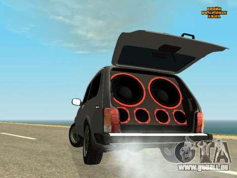 VAZ Niva 2123 auto Sound für GTA San Andreas linke Ansicht