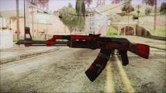 Xmas AK-47 für GTA San Andreas