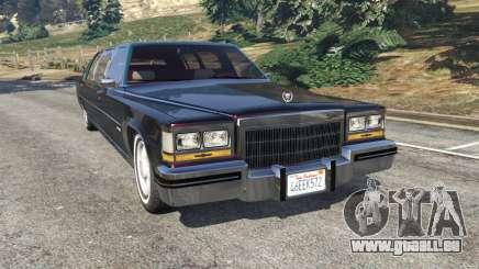 Cadillac Fleetwood 1985 Limousine [Beta] pour GTA 5