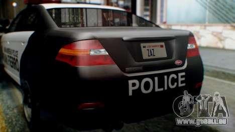 GTA 5 Police SF pour GTA San Andreas vue intérieure