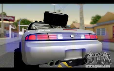 Nissan Silvia S14 Rusty Rebel pour GTA San Andreas vue de droite