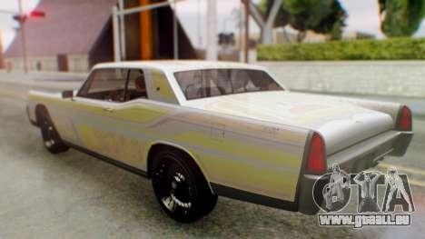 GTA 5 Vapid Chino Tunable pour GTA San Andreas vue de dessus