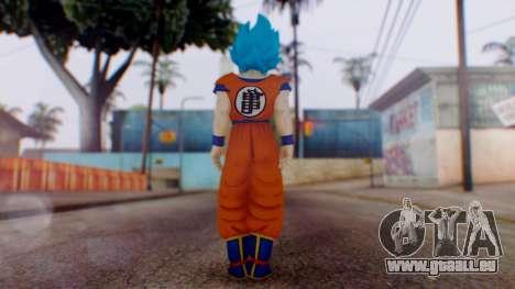 Goku SSJ God Blue (SSGSS) pour GTA San Andreas troisième écran