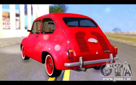 Zastava 750 - The Cars Movie pour GTA San Andreas laissé vue