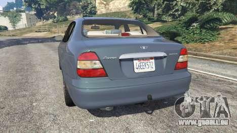 GTA 5 Daewoo Leganza US 2001 hinten links Seitenansicht
