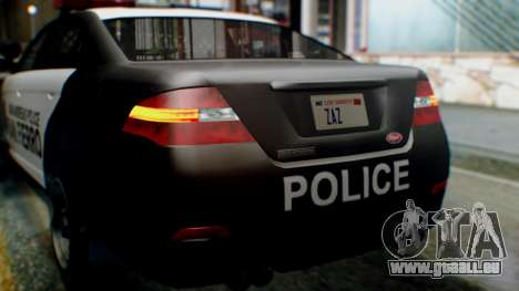 GTA 5 Police SF für GTA San Andreas Seitenansicht