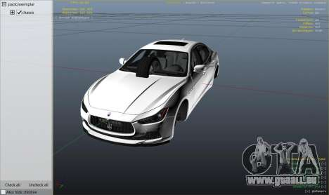 GTA 5 Maserati Ghibli S droite vue latérale