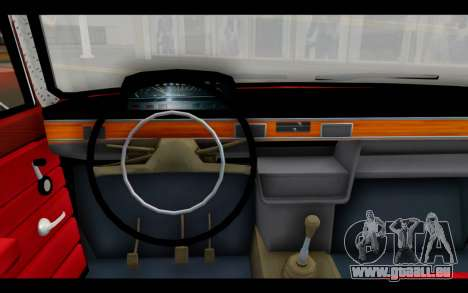 Fiat 124 für GTA San Andreas zurück linke Ansicht