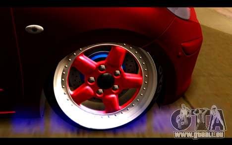 Nissan March 2011 Hellaflush pour GTA San Andreas sur la vue arrière gauche