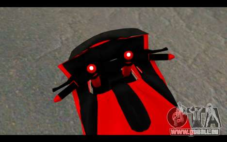 Bajidi 1R pour GTA San Andreas sur la vue arrière gauche