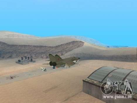 Le MiG 25 pour GTA San Andreas vue de droite