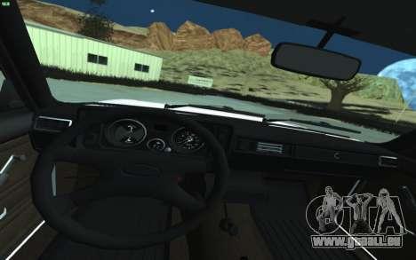 VAZ 2105 für GTA San Andreas für GTA San Andreas Innenansicht
