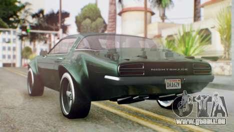 GTA 5 Imponte Nightshade pour GTA San Andreas laissé vue