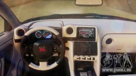 Nissan GT-R Police Rocket Bunny pour GTA San Andreas vue arrière