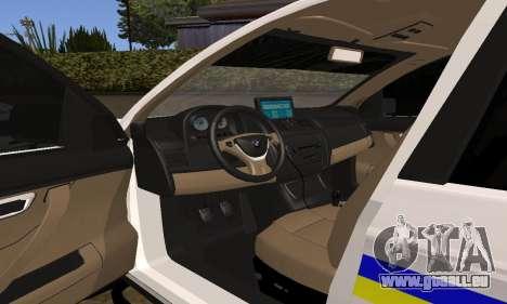 BMW X5 Ukranian Police pour GTA San Andreas vue de dessus