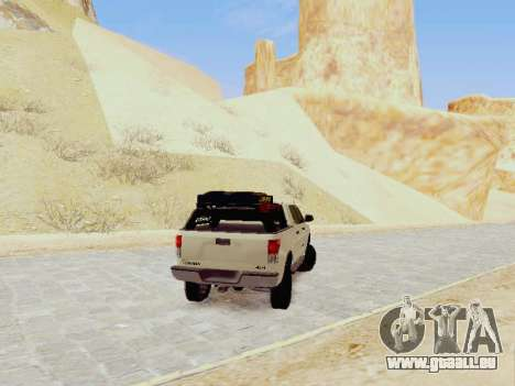 Toyota Tundra 2012 Semi-Off-road für GTA San Andreas zurück linke Ansicht