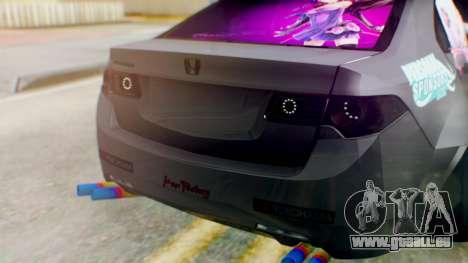 Honda Accord Yukari Itasha für GTA San Andreas Rückansicht