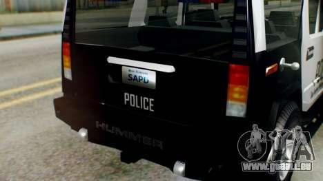 New Police Ranger für GTA San Andreas rechten Ansicht